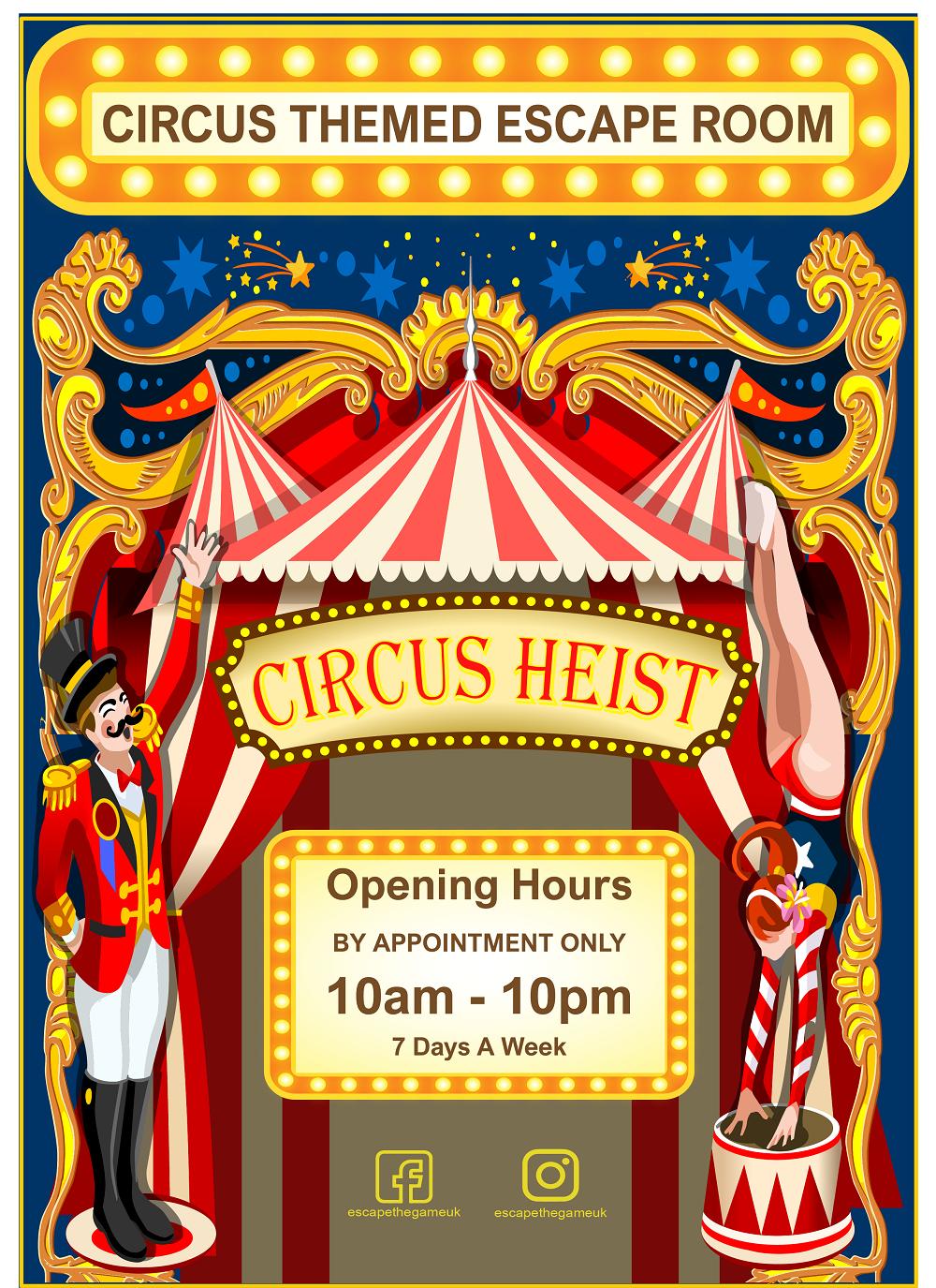 Circus Heist Poster Design  - Circus Heist Poster Design - Home
