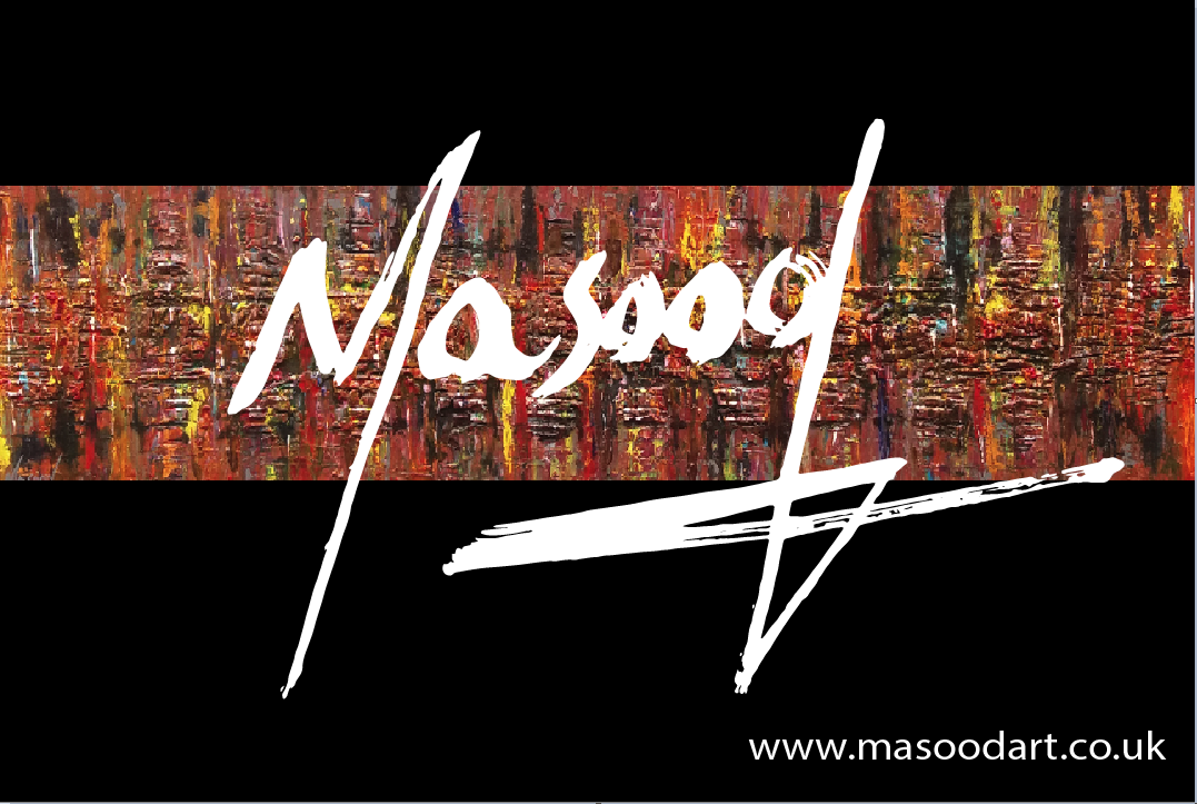 Masood Art masood art - Masood Art Business Card Back - Masood Art